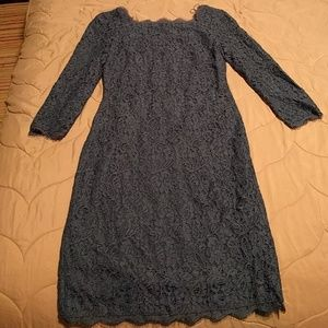 Laced l/s cocktail dress